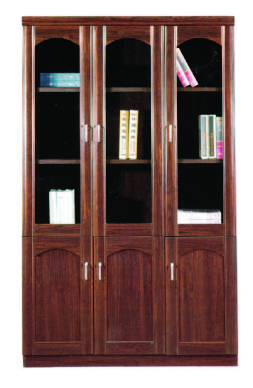 New Design 3 Doors File Cabinet With Glass